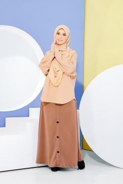 Deena Skirt - Mocha Brown